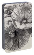 Hibiscus Sketch Portable Battery Charger
