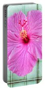 Hibiscus Squares Portable Battery Charger