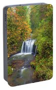 Hidden Falls In Autumn Portable Battery Charger