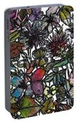 Hide And Seek In Wildflower Bushes Portable Battery Charger