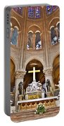 High Alter Notre Dame Cathedral Paris France Portable Battery Charger by Kim Bemis