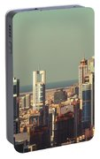 High-angle View Of Dubai's Towers At Sunset.  Portable Battery Charger