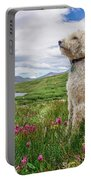 High Meadow With Eyes To The Sky Portable Battery Charger