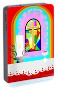 High Stained Glass Portable Battery Charger