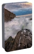 High Tide At Bald Head Cliff Portable Battery Charger