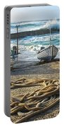 High Tide In Sennen Cove Cornwall Portable Battery Charger
