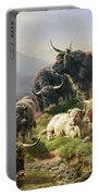 Highland Cattle Portable Battery Charger