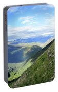 Highline Trail Overlooking Going To The Sun Road - Glacier National Park Portable Battery Charger
