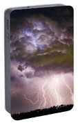 Highway 52 Storm Cell - Two And Half Minutes Lightning Strikes Portable Battery Charger