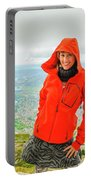 Hiker Woman In Norway Portable Battery Charger