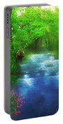 Hiking At The Rivers Edge Portable Battery Charger