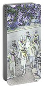 Hiking Down The Street I  Painterly Glowing Edges Invert  Portable Battery Charger
