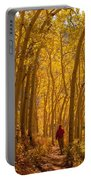 Hiking In Fall Aspens Portable Battery Charger