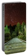 Hiking Into The Night Adirondack Log Keene Valley Ny New York Portable Battery Charger