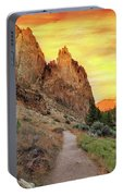 Hiking Trail At Smith Rock State Park Portable Battery Charger
