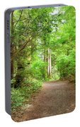 Hiking Trail Through Forest Along Lewis And Clark River Portable Battery Charger