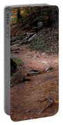 Hiking Trail To Abrams Falls Portable Battery Charger by DigiArt Diaries by Vicky B Fuller