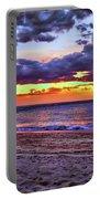 Hillsboro Beach Orange Sunset Hdr Portable Battery Charger