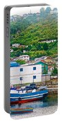 Hillside Along Harbor Near Angelo Fish Market In Puerto Montt-chile  Portable Battery Charger