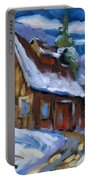 Hillsidebarn In Winter Portable Battery Charger