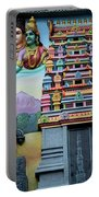 Hindu Deities On Wall Mural Of Sri Senpaga Vinayagar Tamil Temple Ceylon Rd Singapore Portable Battery Charger