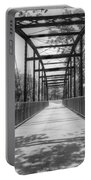 Hinkson Creek Bridge In Black And White Portable Battery Charger