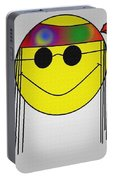 Hippie Face Portable Battery Charger