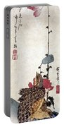 Hiroshige: Poppies Portable Battery Charger