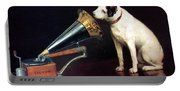 His Master's Voice - Hmv - Dog And Gramophone - Vintage Advertising Poster Portable Battery Charger