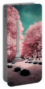 Historic Cemetery In Infrared Portable Battery Charger