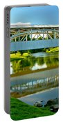 Historic Halls Mill Bridge Reflections Portable Battery Charger