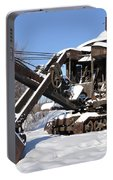 Historic Mining Steam Shovel During Alaska Winter Portable Battery Charger