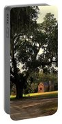 Historic Slave Houses At Boone Hall Plantation In Sc Portable Battery Charger