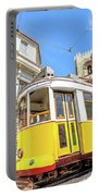 Historic Tram And Lisbon Cathedral Portable Battery Charger