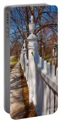 Historic Vermont Fence Portable Battery Charger