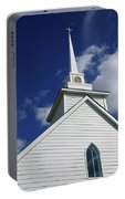 Historic White Church Portable Battery Charger