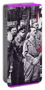 Hitler With Nazi Entourage Hess And Himmler In 2nd Row Circa 1935 Color Added 2016 Portable Battery Charger