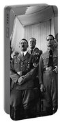 Hitler With Nazi Party Bigwigs Julius Streicher On Far Right C. 1935 Color Added 2016 Portable Battery Charger
