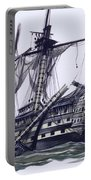 Hms Victory After The Battle Of Trafalgar, With Mizzen Topmast Shot Away Portable Battery Charger