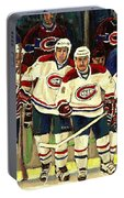 Hockey Art The Habs Fab Four Portable Battery Charger