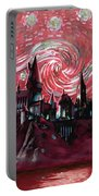 Hogwarts Starry Night In Red Portable Battery Charger