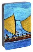 Hokulea Hawaiian Ocean Going Outrigger Canoe #49 Portable Battery Charger