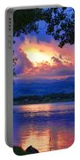Hole In The Sky Sunset Portable Battery Charger