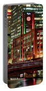 Holiday Colors Along Chicago River Portable Battery Charger