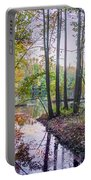 Holiday Park Lake At Dusk Portable Battery Charger