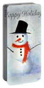Holiday Snowman Portable Battery Charger