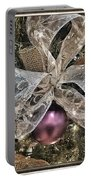 Holiday Sparkle Bow Portable Battery Charger