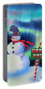 Holiday Top Hat Portable Battery Charger
