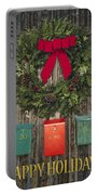 Holiday Wreath Portable Battery Charger