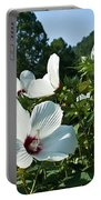 Hollyhock At Sunrise Portable Battery Charger